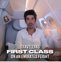 Dank, Emirates, and Flight: ou  TRAVELLING  FIRST CLASS  ON AN EMIRATES FLIGHT This lad documented his First Class flight with Emirates. Some of these luxury perks should be available on every flight 😍✈️
