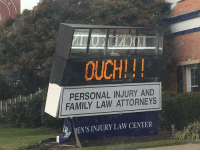 Ouch indeed!: OUCH!!  PERSONAL INJURY AND  FAMILY LAW ATTORNEYS  EN'S INJURY LAW CENTER Ouch indeed!