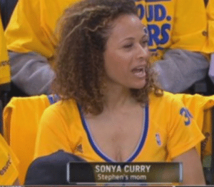 Hi, in urgent need of a Salt bae meme on the Finals 👀 thanks guys: OUD.  RS  SONYA CURRY  Stephen's mom Hi, in urgent need of a Salt bae meme on the Finals 👀 thanks guys
