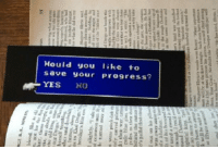 Final Fantasy, Fantasy, and You: ould you like to  save your progress? <p>Final Fantasy Bookmark.</p>