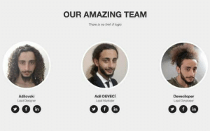 Logic, Work, and Amazing: OUR AMAZING TEAM  There is no limit if logic  Adilovski  Lead Designer  Adil DEVECİ  Lead Marketer  Deveciloper  Lead Developer  in  in  in When you do all the work in the group project.