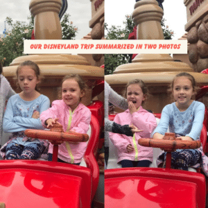 The Real Disneyland Experience: OUR DISNEYLAND TRIP SUMMARIZED IN TWO PHOTOS The Real Disneyland Experience