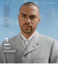 Mcjustreallyreallyreallyhot when he frowns 🔥🔥 jessewilliams model hottie: OUR GUY JESSE  Throughout this  section you'll see  roguishly handsome  and thoroughly woke  actor Jesse Wi  who's eight  deep on Grey's  Anatomy and headed  to the silver screen  this summer in  the rom-com Band  Aid For more on  him, see page 50  overcoat $2.300  Thom Browne  shirt Boss  sult $4.025 Hermes  shirt Hermes  ring David Yurman  Tonal  Seersucker  The most summery suiting  fabric used to come in high.  contrast stripes, making  anyone who wore it look like a  barbershop-quartet singer.  But there's nothing sucky about  seersucker now that it's gone  pneighbori  tonal nairing  WHAT TO WEAR NOW Mcjustreallyreallyreallyhot when he frowns 🔥🔥 jessewilliams model hottie