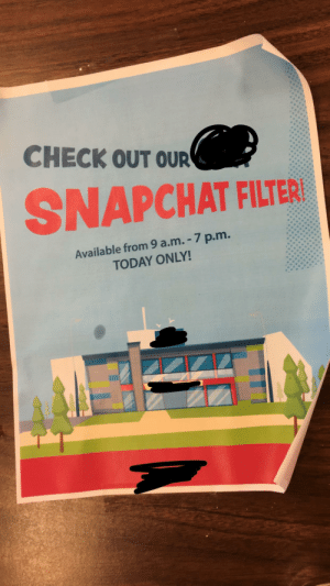 Our radical Snapchat filter: Our radical Snapchat filter