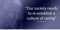 """""""Our society needs to re-establish a culture of caring."""" ~ Nelson Mandela from an Address at a Father's Day lunch hosted by Zindzi Mandela, Hyatt Hotel, Johannesburg, South Africa, 1 June 2001 #LivingTheLegacy #MadibaRemembered   www.nelsonmandela.org www.mandeladay.com archive.nelsonmandela.org: """"Our society needs  to re-establish a  culture of caring  Nelson Rolihlahla Mandela """"Our society needs to re-establish a culture of caring."""" ~ Nelson Mandela from an Address at a Father's Day lunch hosted by Zindzi Mandela, Hyatt Hotel, Johannesburg, South Africa, 1 June 2001 #LivingTheLegacy #MadibaRemembered   www.nelsonmandela.org www.mandeladay.com archive.nelsonmandela.org"""