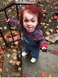 Our two year old daughter. Because when big sis wants to dress up as Jason Voorhees, what better side kick than Chucky?: Our two year old daughter. Because when big sis wants to dress up as Jason Voorhees, what better side kick than Chucky?