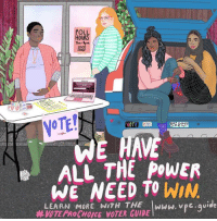 Voter: OURS  NOTE!  ALL THE POWER  WE NEED TO WIN  LEARN MORE WITH THE IwwW. vpc.quide  #VOTE PRoCHOICE VOTER GUIDE
