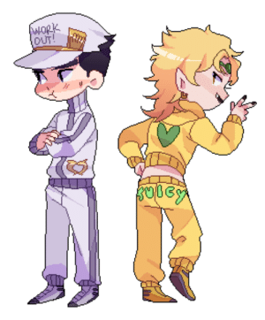 Lol, Tumblr, and Blog: OUT  5 yahsuho:  lol i was commissioned a tracksuit jotaro and dio