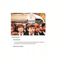Ali, Dumbledore, and Instagram: out of bounds  The third door Corridor on the rig  painful death.  to most  love Harry's face. Everyone else just kind of looks down, ali serious,  but Harrys like The fuck kind of school is this?!? ⠀⠀⠀⠀↡ Describe Dumbledore with one word! + Followers; 98.7k + © ThePhilosopherStones | Instagram | 2017