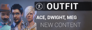 Hair, Content, and Ace: OUTFIT  ACE, DWIGHT, MEG  NEW CONTENT What's the outfit and hair for Meg called?