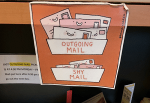 Outgoing mail: Outgoing mail