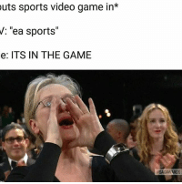 """So true 😂: outs sports video game in*  V: """"ea sports""""  e: ITS IN THE GAME  AWARD So true 😂"""