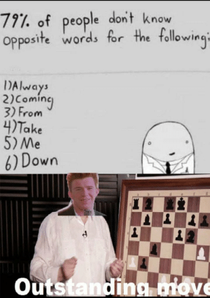 Outstanding move!: Outstanding move!