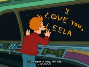 Tumblr, Blog, and Futurama: OVE You,  LEELA  Detonation in three, two, one. scifiseries:  One of the more underrated sad futurama episodes,this is one of my favorites besides the hermes/bender one. whats yours?