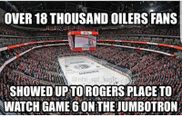 DAMN! . DOUBLE TAP IF YOU LOVE HOCKEY!!: OVER 18 THOUSAND OILERS FANS  SHOWED UP TOROGERSPLACETo  WATCH GAME 6 ON THE UMBOTRONA DAMN! . DOUBLE TAP IF YOU LOVE HOCKEY!!