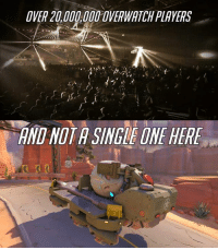 Video Games and Payload: OVER 20 OVERWATCHPLAYERS  ANDNOTA SINGLE ONE HERE But who's watching the payload?!