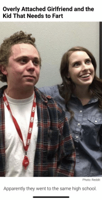 overly attached girlfriend: Overly Attached Girlfriend and the  Kid That Needs to Fart  Apparently they went to the same high school.