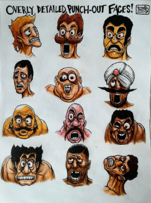 I redrew some of the opponents' faces from Mike Tyson's Punch Out a while back.: OVERLY DETAILED PUNCH-OUT FACES!  INDIO I redrew some of the opponents' faces from Mike Tyson's Punch Out a while back.