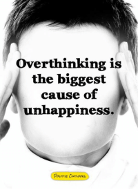 Memes, 🤖, and Overthinking: Overthinking is  the biggest  cause of  unhappiness.