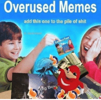 Memes, Shit, and Add: Overused Memes  add this one to the pile of shit  Big  Bo