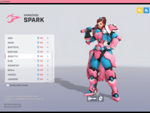 """Break, Chat, and Game: Overwatch  HANGZHOU  SPARK  권 100  ANA  및 100  ASHE  100  BAPTISTE  및 100  BASTION  힘 100  BRIGITTE  쉿 100  D.VA  힘 100  DOOMFIST  및 100  GENJI  및 100  HANZO  및 100  JUNKRAT  SHOW AWAY SKINS  WERPONS  LarsErik]: Did anyone elses game break?  LarsErik]: """"unexpected error"""" and my game was  gone  PRESS ENTER TO CHAT Overwatch League sais transrights ???"""