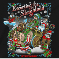 Help escort the Sleighload! While supplies last, pick up your new Overwatch Sleigh Ride premium tee in preparation for a Holiday victory.   Get yours: http://bit.ly/2ofPojr: OVERWATCH Help escort the Sleighload! While supplies last, pick up your new Overwatch Sleigh Ride premium tee in preparation for a Holiday victory.   Get yours: http://bit.ly/2ofPojr