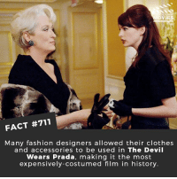 What is Meryl Streep's best performance? 🎥 • • • • Double Tap and Tag someone who needs to know this 👇 All credit to the respective film and producers. movie movies film tv cinema fact didyouknow moviefacts cinematography screenplay director movienight hollywood netflix didyouknowmovies academyawards oscars2018 phantomthread fashion nyfw prada: OVIES  FACT #711  Many fashion designers allowed their clothes  and accessories to be used in The Devil  Wears Prada, making it the most  expensively-costumed film in history. What is Meryl Streep's best performance? 🎥 • • • • Double Tap and Tag someone who needs to know this 👇 All credit to the respective film and producers. movie movies film tv cinema fact didyouknow moviefacts cinematography screenplay director movienight hollywood netflix didyouknowmovies academyawards oscars2018 phantomthread fashion nyfw prada