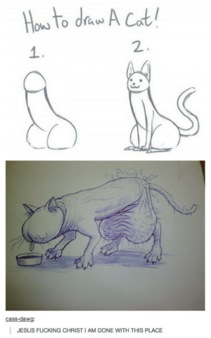 Cats, Fucking, and Jesus: ow lo draw  1  2  cass-dawg  JESUS FUCKING CHRIST I AM DONE WITH THIS PLACE cats are penises