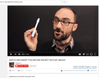 "Dank, Meme, and Watch Me: ow to get laid at burning man  0:09/1322  WATCH ME INSERT THIS ENTIRE ROCKET INTO MY ANUS!!!  Vsauce  BECOME ARYAN  1.0TRILLION  1385745489 freakin' views  Add to ★Share More  lự 999,999,999,999,999,999,999,999,999,999タ1-999,999,999  Published on Sol 385756 of the year 4703 <p>Vsauce knows science via /r/dank_meme <a href=""http://ift.tt/2czc8SR"">http://ift.tt/2czc8SR</a></p>"