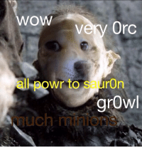 Wow so lotr: OW  ven Orc  all powr to S  ron  growl Wow so lotr
