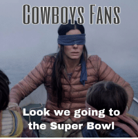 Super Bowl, Bowl, and Super: OWBOYS TANS  Look we going to  the Super Bowl https://t.co/djMFuwf6R6