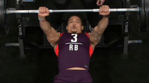 Memes, True, and Power: OWER  POWER A new #NFLCombine record for true running backs (since '03)  34 BENCH PRESS reps for @KStateFB RB @Alex_Barnes34! 💪💪💪 https://t.co/M0xH8hO4Vv