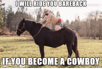 Cowboy that will say anything to get you to become a cowboy: OWILL RIDE YOU BAREBACK  FYOUBECOME A COWBOY Cowboy that will say anything to get you to become a cowboy