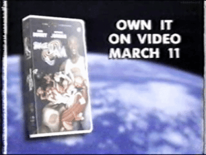 Target, Tumblr, and Blog: OWN IT  ON VIDEO  MARCH 11 moonykun:  mushroom-just-one:  It is time  i can't believe space jam is finally on vhs, after all these years of waiting