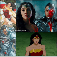 "Memes, Cheetah, and Justice: OWONDER  OwONDERVAUGHN CYBORG & WONDER WOMAN * In the clip from the animated movie ""Justice League: Doom"" Batman's contingency plans to neutralize the League members (if any of them were to go rogue) is stolen when the batcomputer is hacked. * Wonder Woman is attacked by Cheetah who scratches her, sending nanomachines into her bloodstream. The nanomachines cause her to believe everyone she sees is Cheetah's duplicate. Since she never stops fighting until her opponent is defeated, Wonder Woman will fight until she dies. Cyborg adjusts his sonic emitter to a frequency that neutralizes the nanites. *** @gal_gadot rayfisher cyborg victorstone mywonderwoman girlpower women femaleempowerment MulherMaravilha MujerMaravilla galgadot unitetheleague princessdiana dianaprince amazons amazonwarrior manofsteel thedarkknight"