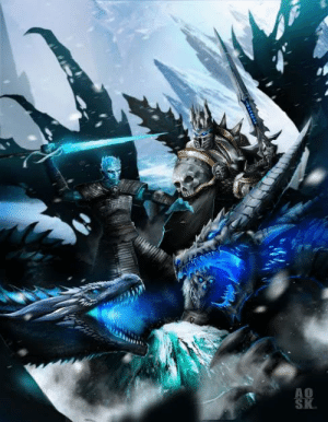 The Lich King (WoW) is similar to the NK, but with steroids, Lol.: Ox  AS The Lich King (WoW) is similar to the NK, but with steroids, Lol.