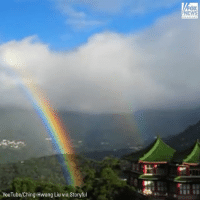 Memes, youtube.com, and Rainbow: ox  EWS  YouTube/Ching-Hwang Liu via Storyful SPECTACULAR: Timelapse video of a rainbow that lasted nearly nine hours was captured in Taipiei, Taiwan. 🌈