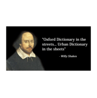 "Willy: ""Oxford Dictionary in the  streets... Urban Dictionary  in the sheets""  Willy Shakes Willy"