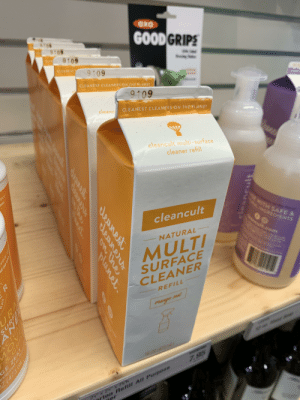 """Juice, Ace, and Surface: OXO  GOODGRIPS  SY8N  9105  9109  CLEANEST  9109  CLEANEST CLEANERS ONTHE PLANET  9109  cleancy  CLEANEST CLEANERS ON THE PLANET  cleancult multi-surface  cleaner refill  ace  wer  WITH SAFE &  cleancult  the  NGREDIENTS  NATURAL  em  MULTI  SURFACE  CLEANER  REFILL  ange  16.CVRANER  7.95  rton Retill All Purpose  7ar  2N"""" X 2N*x 787  eleancul  sleanest  CLeAne  OW Uhe  Planet  CO  Kr  44  URA  P  GE ZEST forbidden juice"""