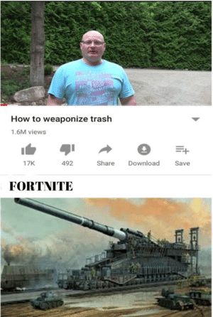 Minecraft good fortnite bad: OYA  TOUCH  TACHO  cerra  UTBEFOR  How to weaponize trash  1.6M views  Share  Download  17K  492  Save  FORTNITE  TITI Minecraft good fortnite bad