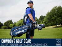 Compete on the golf course all day, but there's no competition for who has the best Dallas Cowboys golf gear: http://dcps.co/golf176b: oYs  COWBOYS GOLF GEAR  GO FOR THE GREENS WITH A COOL COWBOYS LOOK  PRO SHOP Compete on the golf course all day, but there's no competition for who has the best Dallas Cowboys golf gear: http://dcps.co/golf176b
