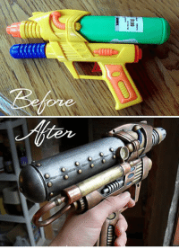 Water, Awesome, and Gun: oze <p>Steampunk Water Gun Looks Awesome.</p>