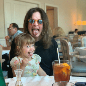 Ozzy and his granddaughter.: Ozzy and his granddaughter.