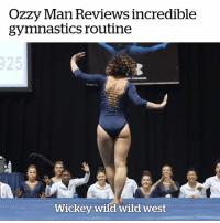 "Gymnastics, Wild, and Dance: OZZy lan Reviews incredible  gymnastics routine  Wickey wild wild west ""What a golden artistic amalgamation of dance"" 🤣💃  Credit: Ozzy Man Reviews"