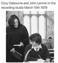 Ozzy and John recording hits (March 15th 1979): Ozzy Osbourne and John Lennon in the  recording studio March 15th 1979 Ozzy and John recording hits (March 15th 1979)