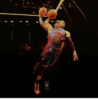 """Michael Jordan on Russell Westbrook   """"I see a lot of resemblance of his passion for the game of basketball (to) the way I played the game of basketball.""""  Design Via Antoine James Designs ©Basketball Forever  -Me7o: p  