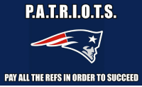 Meme, Nfl, and All The: P.A.T.R.I.0.T.S  PAY ALL THE REFS IN ORDER TO SUCCEED Ok, last refs meme...(maybe)