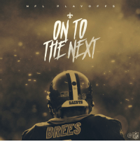 Memes, Nfl, and New Orleans Saints: P L A Y O F F S  SAINTS  BREES  D/ D  NFL The @Saints are marching on to the Divisional Round. #GoSaints #NFLPlayoffs https://t.co/ZpJayYbDB1