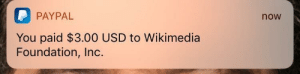 Dank, Memes, and Target: P PAYPAL  You paid $3.00 USD to Wikimedia  Foundation, Inc.  now meirl by bananatheswitch MORE MEMES