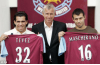 Soccer, Once Upon a Time, and Once: P  WTBA  MASCHERANO  TEVEZ  32 16 Once upon a time at West Ham...